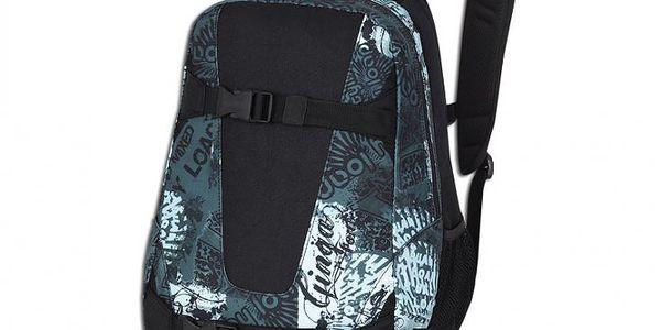 Dvoukomorový batoh Loap Visage Jigsaw Blue