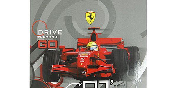 Sešit A4 linky Ferrari Sešit A4 linky 80 stránek šedá