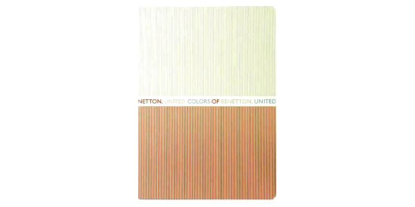 Sešit Benetton Sešit A4 čtverečky 80 stránek béžovo-oranžová