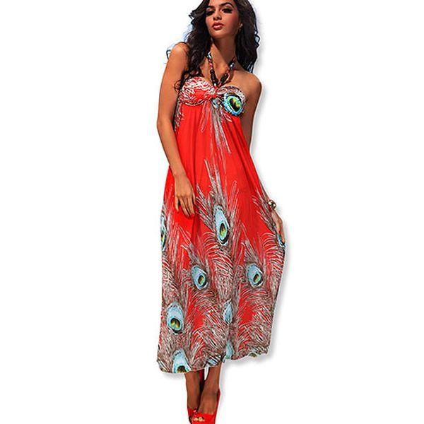 Červené dlouhé šaty