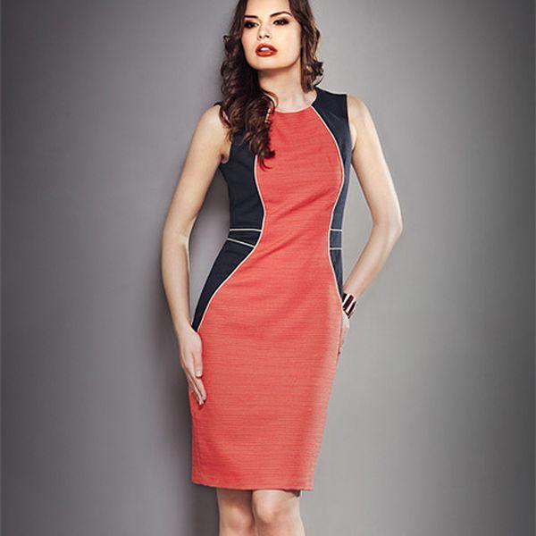 Pouzdrové korálové šaty (la'Aurora)