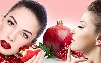 Jedinečné 90 minutové KOSMETICKÉ OŠETŘENÍ PLETI prvotřídní kosmetikou z GRANÁTOVÉHO JABLKA, které je nabité antioxidanty a vitámíny za senzačních 290 Kč! Hýčkejte svou pleť se slevou 63%!