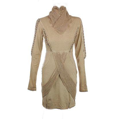 Dámské béžové šaty s rolákem Angels Never Die
