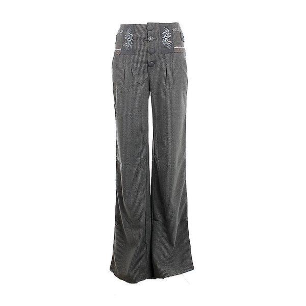 Dámské šedé kalhoty s knoflíky Angels Never Die