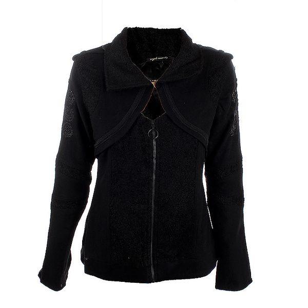 Dámský černý kabátek Angels Never Die