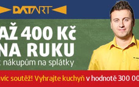 DATART v OC Nový Smíchov - Při nákupu na splátky získáte až 400 Kč v poukázkách na další nákupy v prodejnách Datart. Nákupem na splátky se zařadíte do soutěže o 61 cen.