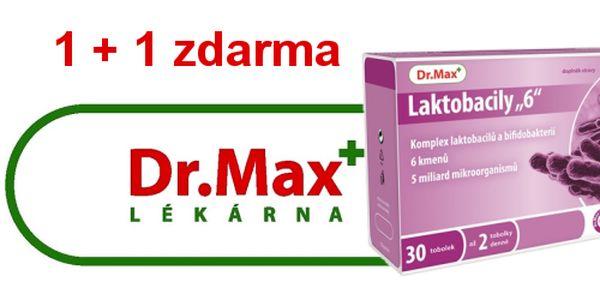 Dr.Max v OC Nový Smíchov - Dr.Max Laktobacily 6 30 cps. + 1 balení zdarma
