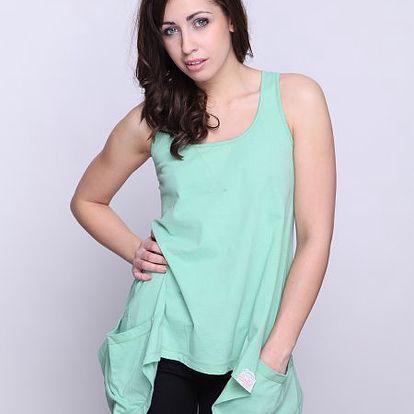 Lehké dámské tílko od značky Superdry Orange Sewn_11E, zelená
