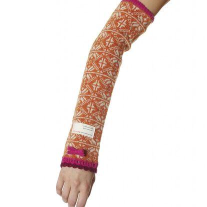 Pletené návleky na ruce - orange 540