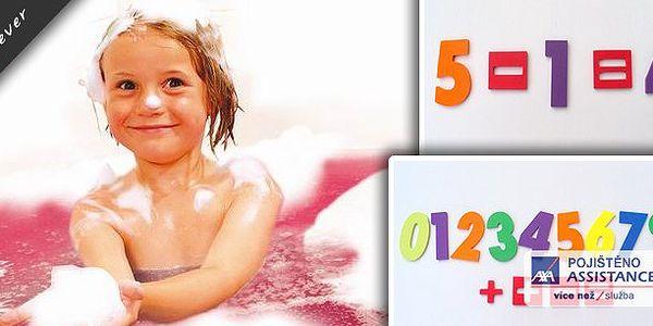 Děti si užijí ve vodě vždy plno legrace zvlášť, když k tomu mají i nějakou hračku. Nyní pro vás máme akci na vodolepky do vany - číslice. S těmito vodolepkami si děti užijí ve vaně nejen legraci, ale procvičí si i matematiku