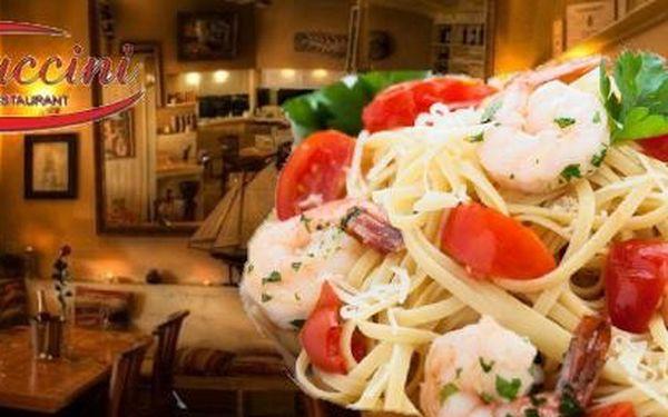 Degustační menu-hlavní chod Linguine s humrovým bujonem za skvělou cenu 314Kč , ve známé pražské restauraci Pizzeria Cappuccini