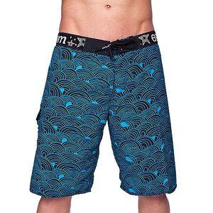 Pánské Plavky 69Slam Boardshort Wave Blue s výraznou gumou a šněrováním.