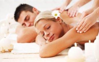 Voňavá romantika při PARTNERSKÉ ČOKOLÁDOVÉ nebo KOKOSOVÉ MASÁŽI! K poukazu láhev sektu.