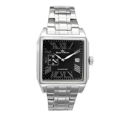 Pánské ocelové čtvercové hodinky Yonger & Bresson