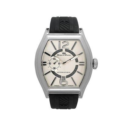 Pánské ocelové hodinky Yonger & Bresson s krémovým ciferníkem