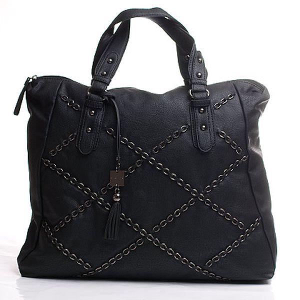 Řetízková Sisley kabelka černá prostorná do ruky