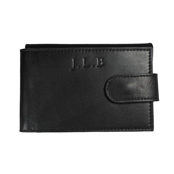 Pánská černá kožená peněženka Forbes&Lewis s cvočkem