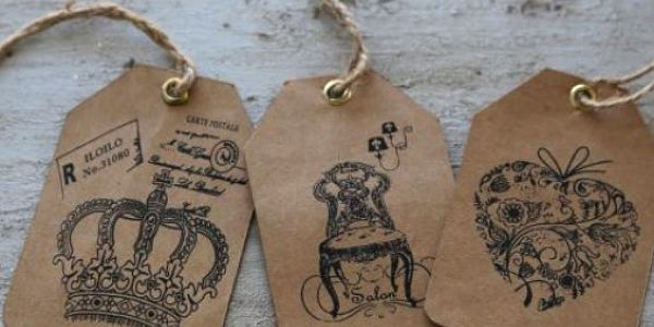 Papírové štítky Vintage