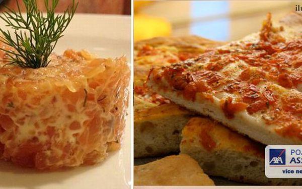 Pizzeria Cappuccini RistorantePraha Stodůlky Vás zve na lososový tataráček s hořčično-medovou omáčkou včetně aperitivu a Focaccia.