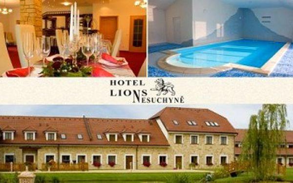 3denní KRÁLOVSKÁ DOVOLENÁ pro 1 osobu s PLNOU PENZÍ a WELLNESS PROCEDURAMI v hotelu LIONS.