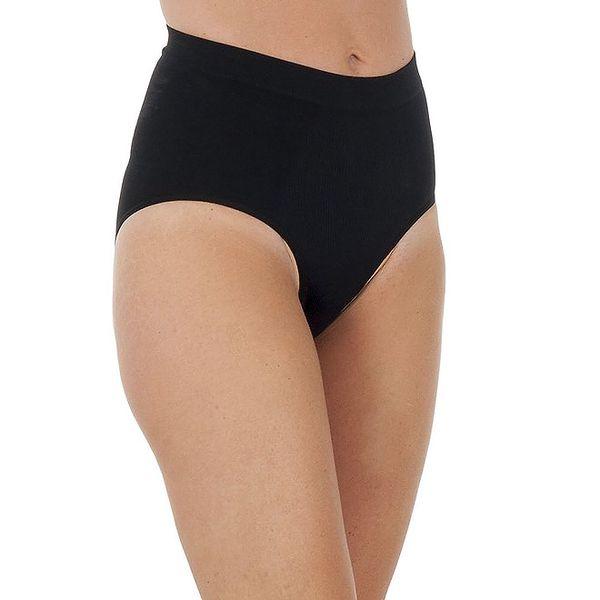 Set tří dámských černých vykrojených kalhotek Marie Claire s vysokým pasem