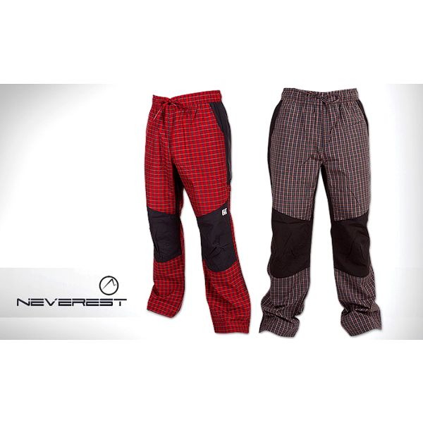 Pánské sportovní kalhoty značky Neverest s kostkovaným vzorem – barevné varianty