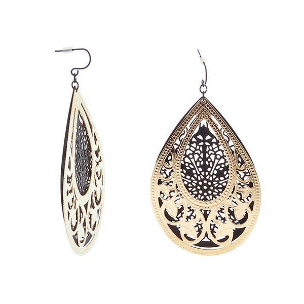 Dámské černo-zlaté indické náušnice Majique