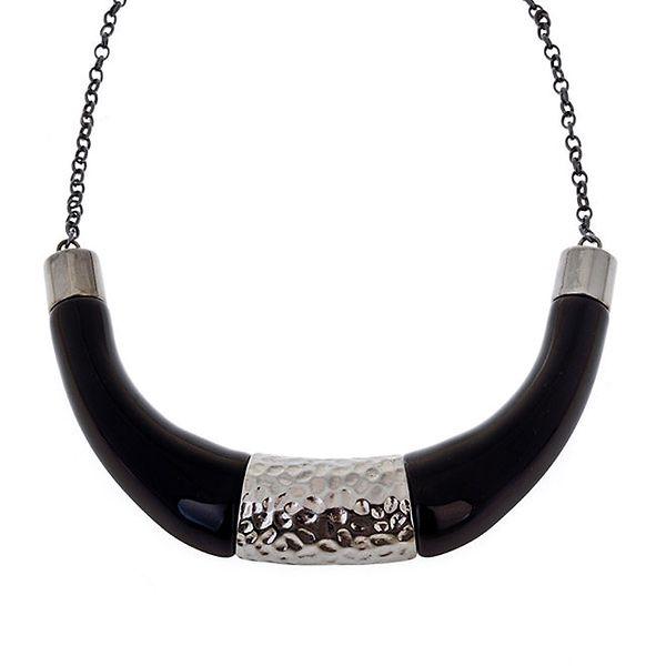 Dámský stříbrno-černý náhrdelník Majique