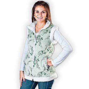 Luxusní dámská vesta, zelená, M