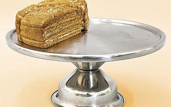 Nerezový podnos na dort, průměr 34 cm