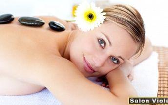HODINOVÁ MASÁŽ dle výběru. Klasická masáž, LÁVOVÉ KAMENY nebo baňky.