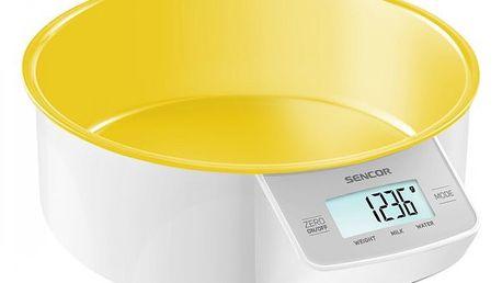 Kuchyňská váha sencor sks 4004yl, žlutá