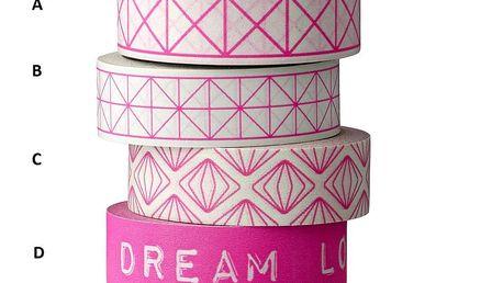 Designová samolepící páska Pink neon