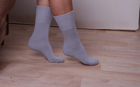 Zdravotní ponožky tmavě šedá 26-28