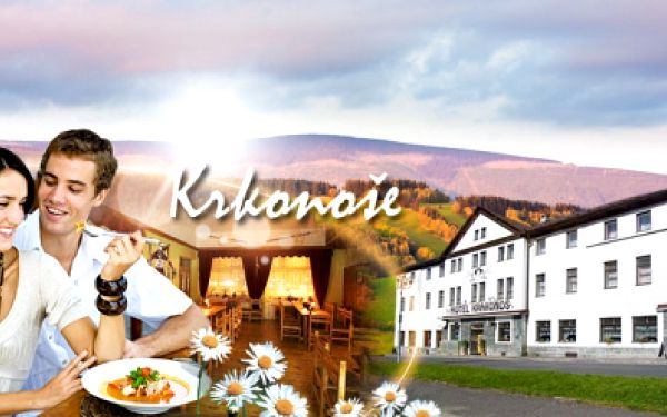 Hotel Krakonoš v Rokytnici nad Jizerou! 3, 4 nebo 7 DNÍ S POLOPENZÍ vč. nápojů PRO DVA již od 2099 Kč! Bohatá snídaně, večeře - 5 chodové menu + prodloužený odjezd až do večera! Odreagování v Krkonoších se slevou 45%!