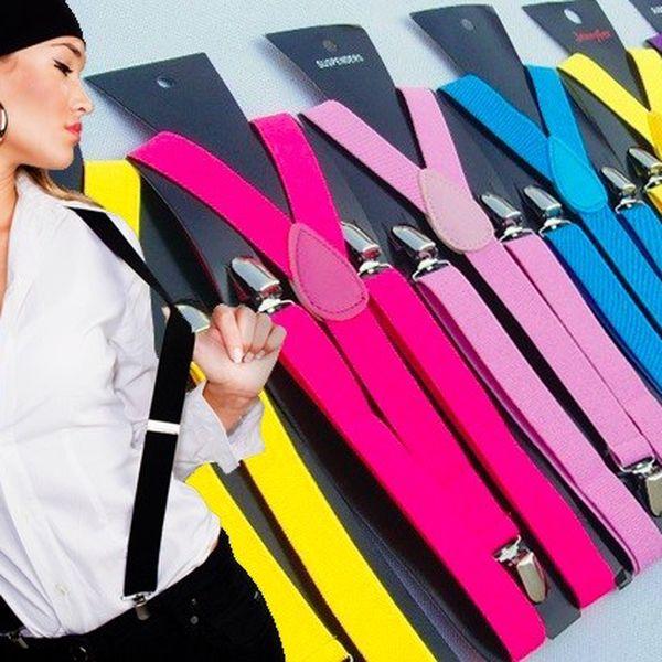 Stylové módní kšandy ve 12 barevných provedeních