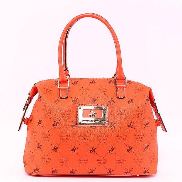 Oranžová kabelka s postranní kapsičkou Beverly Hills Polo Club