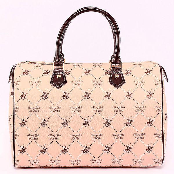 Béžová kufříková kabelka Beverly Hills Polo Club
