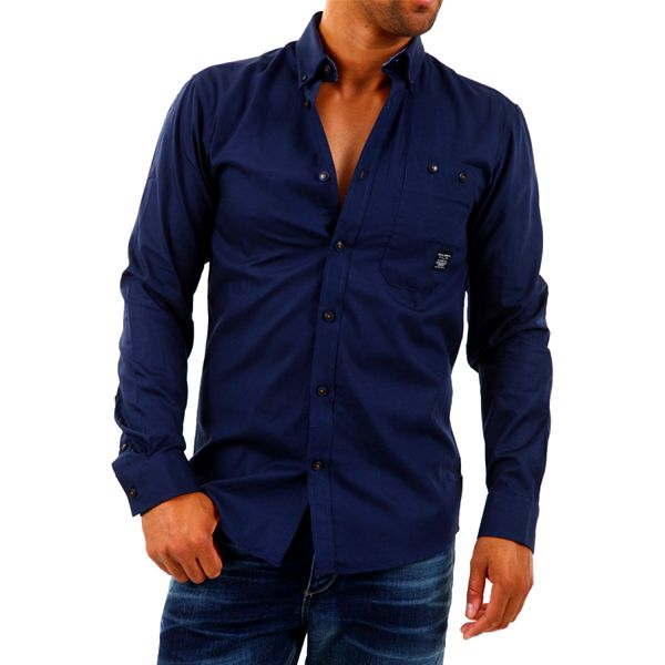 Pánská košile Jack & Jones modrá dlouhý rukáv