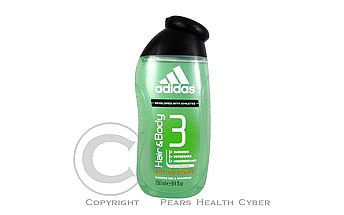 ADIDAS A3 Sprchový gel Men Hair&Body Active Start gel 250 ml