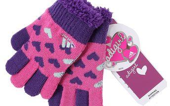 Dívčí rukavice Adidas pro ty nejmenší dívky.