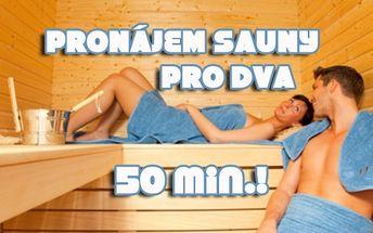 50 min. PRONÁJEM SAUNY pro dva! Finská nebo infrasauna!!! Možnost prodloužení nebo více osob!!! Načerpejte energii Sauna Relax...