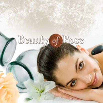 HODINOVÁ MASÁŽ 4V1 za pouhých 248 Kč! Regenerační masáž, havajská technika, masáž lávovými kameny a rozvolnění ztuhlých svalů pomocí baněk! To vše v krásném salonu Beauty of Rose v Praze na Vinohradech! Neodolatelná sleva 75%!
