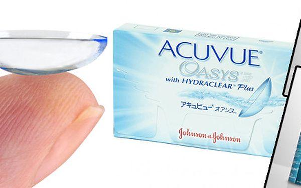 Kontaktní čočky Acuvue Oasys - 2 ks čoček + roztok Avizor Unica a pouzdro na čočky