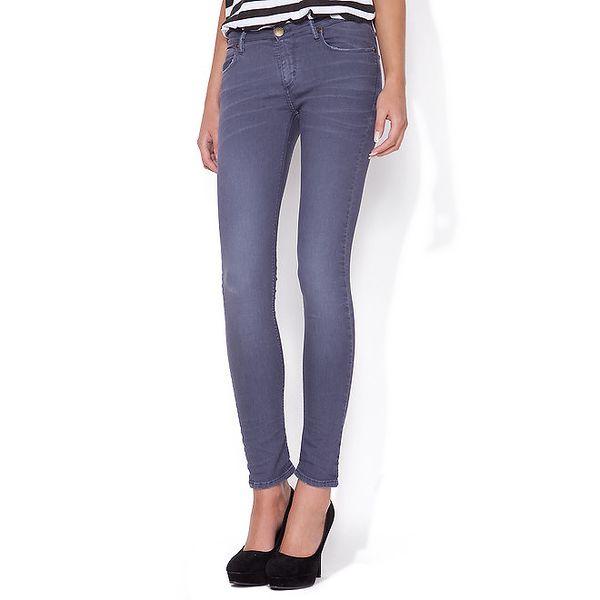 Dámské šedo-modré skinny džíny Blue Roses
