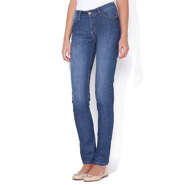 """Dámské modré """"curve"""" jeans Blue Roses"""