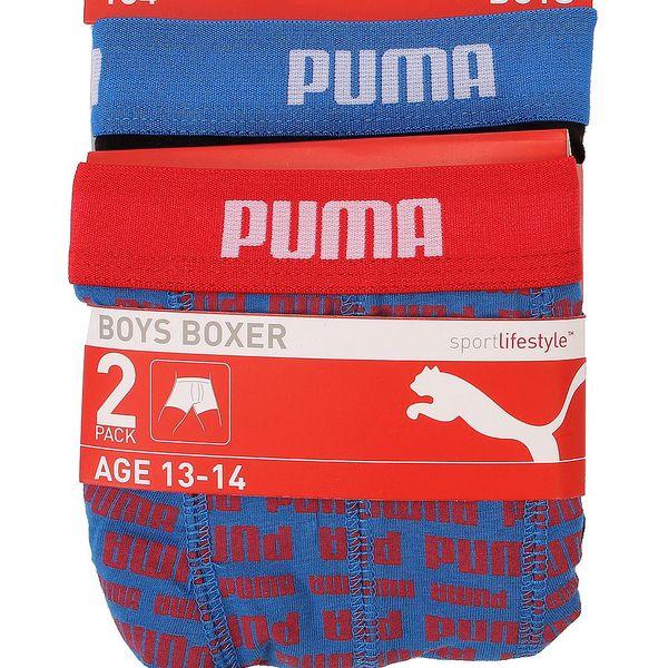 2x Chlapecké boxerky Puma - v černé a modré barvě