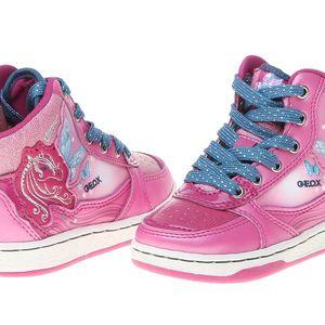 Moderní dívčí kotníčkové tenisky Geox B3400C_00004_C8005_aw růžová