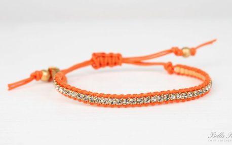 Náramek Crystals orange