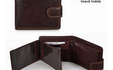 Pánská peněženka Famito Dante tm. hnědá